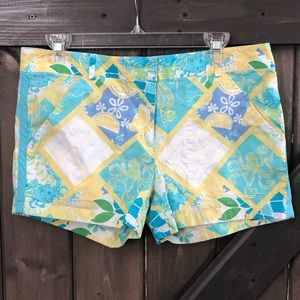 Lilly Pulitzer Octopus Patchwork Shorts